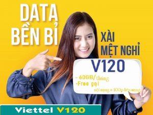 Sim V120 Viettel - Miễn phí 2Gb/ngày gọi nội mạng miễn phí